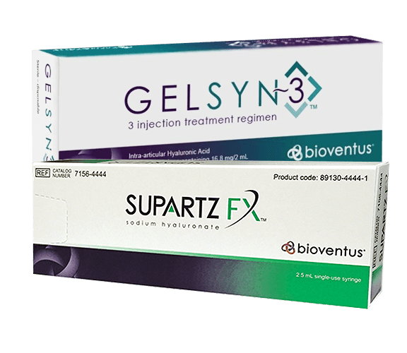 non-surgical knee protocol gelsyn and supartz injections