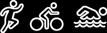 triathlete training program run bike swim icons